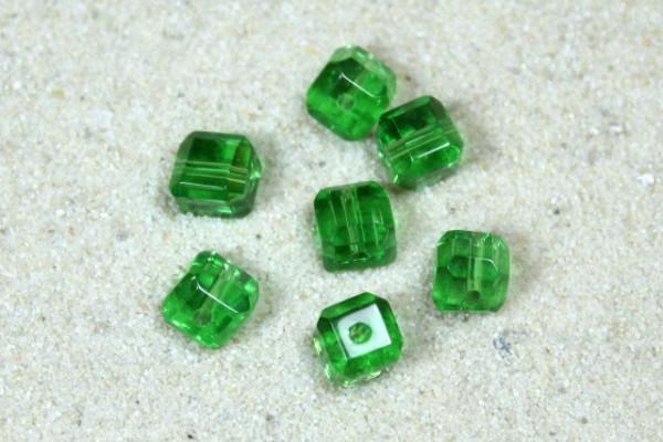 Kristall-Glaswürfel, grün, 4x4mm