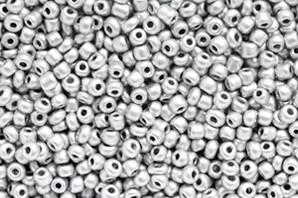 Saatperlen, rund, Farbe silver, 15gr., 2mm (12/0)