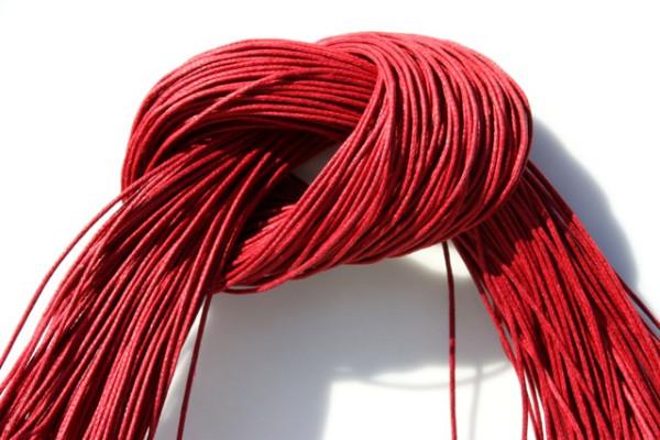 Baumwollband, gewachst, burgund, 1.0mm