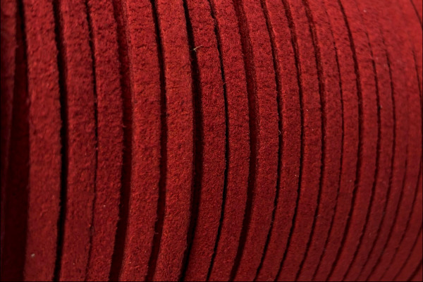 Veloursband in Wildlederoptik, flach, rotbraun, ca. 3x1.4mm