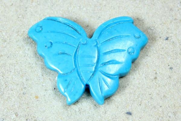 Türkis Imitat, Schmetterling, 35x25mm
