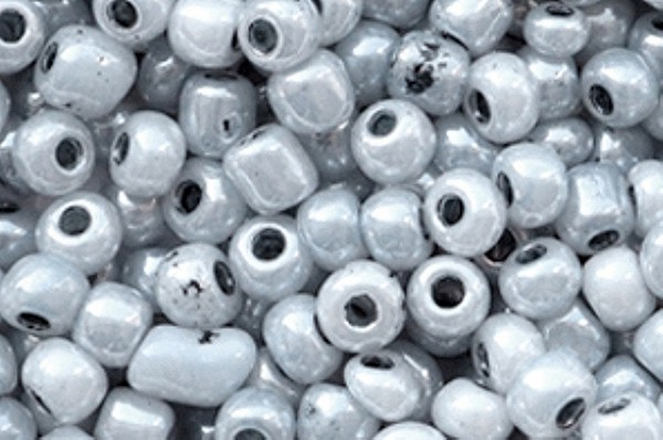 Rocailles, rund, titangrau, 15gr, 6/0, 4mm