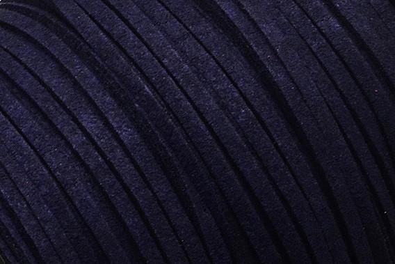 Veloursband in Wildlederoptik, flach, mitternachtsblau, ca. 3x1.4mm