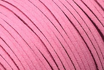 Veloursband in Wildlederoptik, flach, flamingo, ca. 3x1.4mm