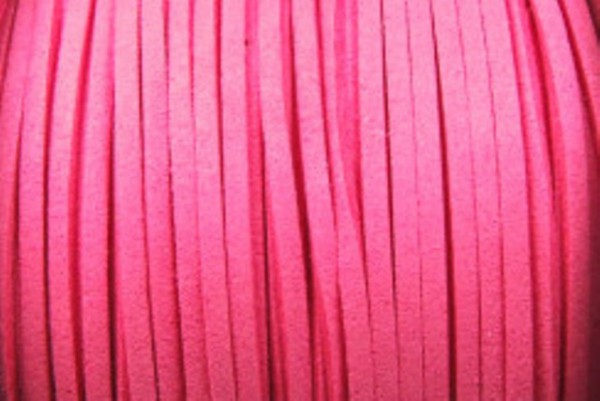 Veloursband in Wildlederoptik, flach, sattrosa, ca. 3x1.5mm