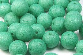 Glasperlen in Steinoptik, grün, matt, ca. 8mm