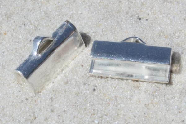 Bandklemme für flaches PVC-Band, versilbert, 12mm