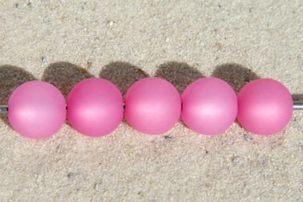Polaris Kugel, matt, rose, 10mm
