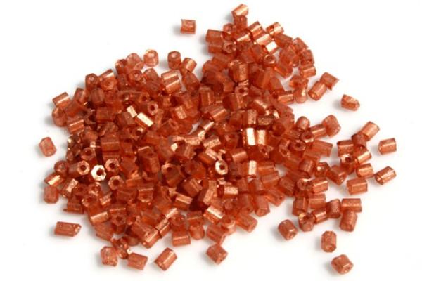 Rocailles, 2-cut, Seidenglanz kupfer, 2.5mm