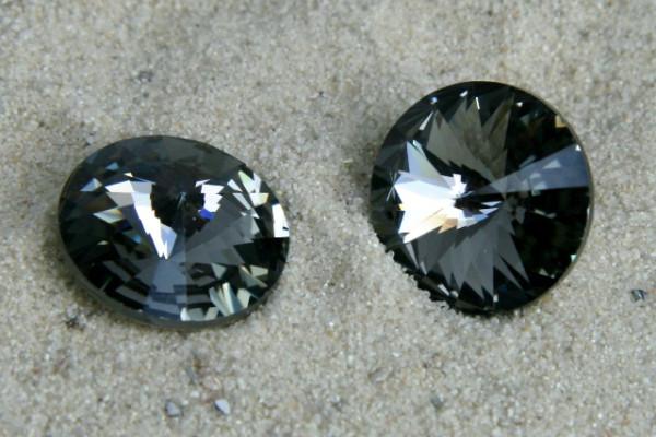 SWAROVSKI® ELEMENTS 1122 ss47 - Rivoli, Black Diamond, 10mm