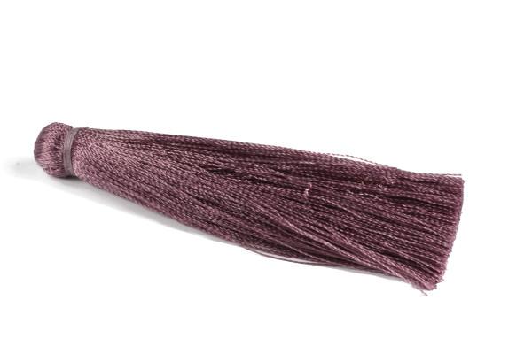Quaste, Seide, groß, aubergine, 7cm