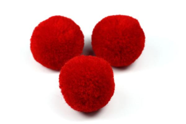 Pompom, rund, rot, ca. 20mm