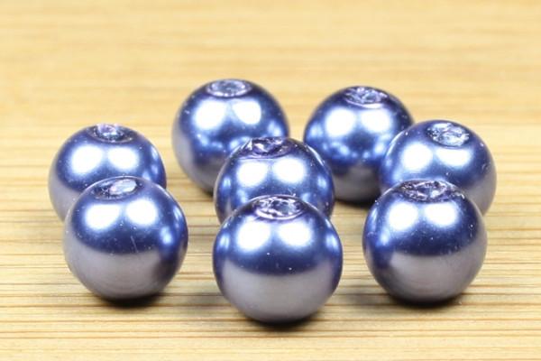 Glaswachsperlen, nachtblau, 6mm