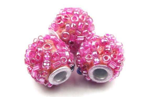 Kashmiri Perle, Kugel, pink, 13.5mm