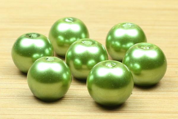 Glaswachsperlen, grün, 8mm