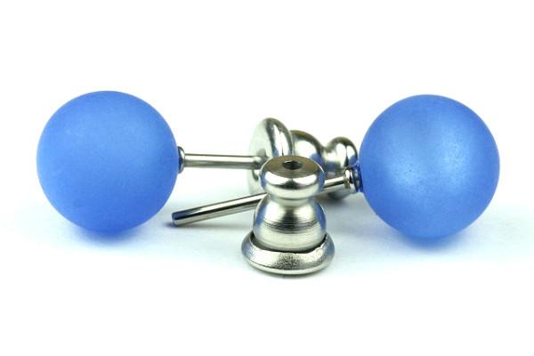 Polaris Ohrstecker, 1 Paar, sapphir blau, 8mm