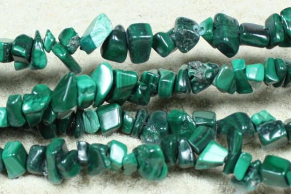 Malachit, Edelsteinsplitter, grün, 50 Stück