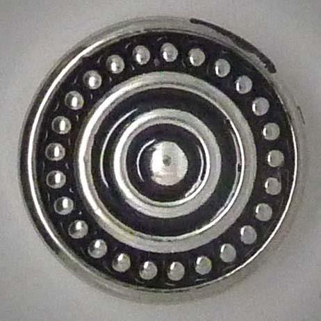 Druckknopf, Noppen und Kreise, silber, ca. 20mm