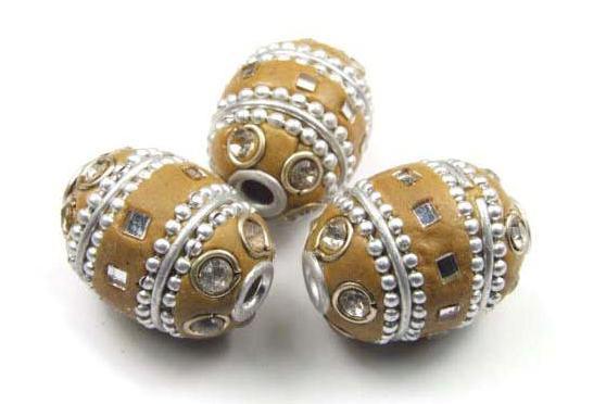 Kashmiri Perle, Oval, Naturtöne, 16x12mm