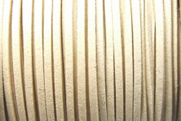 Veloursband in Wildlederoptik, flach, beige, ca. 3x1.5mm