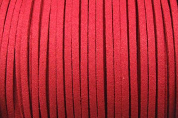 Veloursband in Wildlederoptik, flach, weinrot, ca. 3x1.5mm