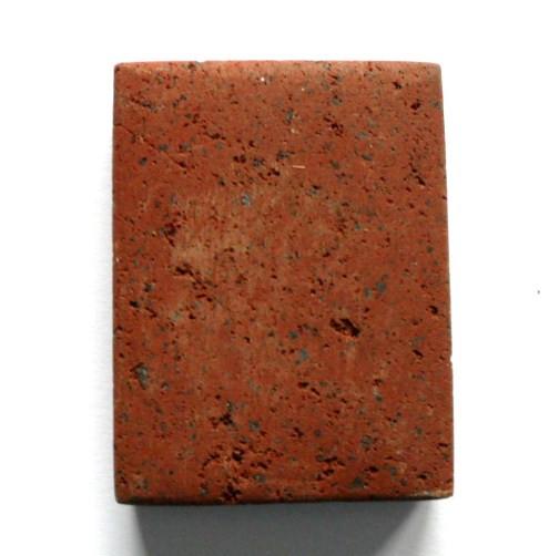 Lava Rechteck, horizontales Fädelloch, rot-braun, 40x30x10mm