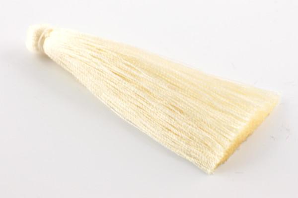 Quasten, Seide, XL, vanille, 7cm