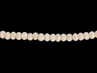 Glasschliffperlen, Rondelle, nude, 2x3mm, ca. 200 Stück per Strang