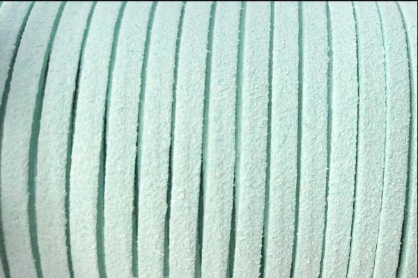 Veloursband in Wildlederoptik, flach, helltürkis, ca. 3x1.4mm