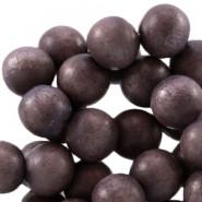 Holzperlen, rund, dark blue purple, 6mm