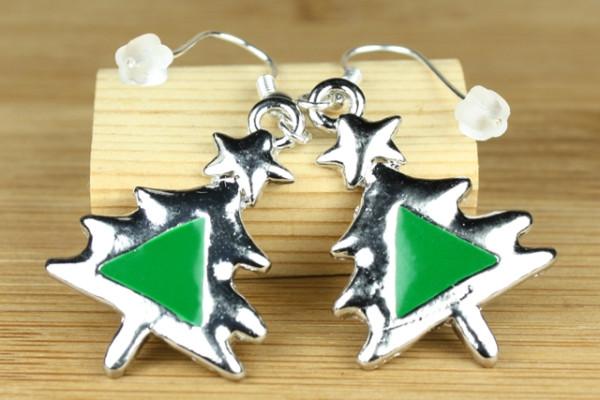 Ohrringe mit Weihnachtsbaum