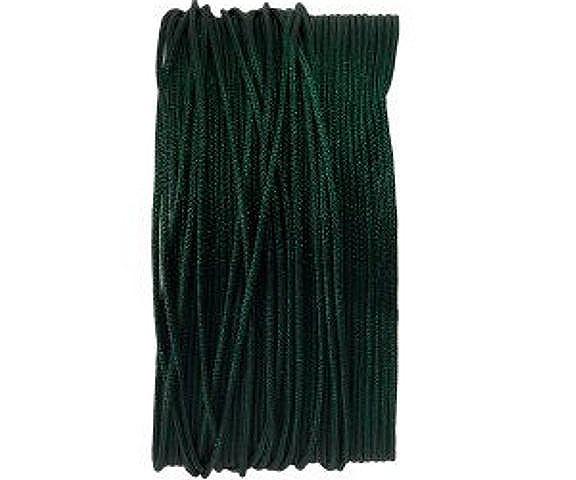 Macrameeband, 25 Meter, rund, grün, 0.8mm