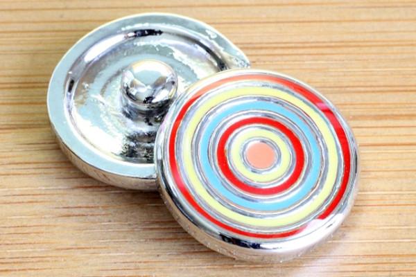 Click-Button, farbige Kreise, 20mm