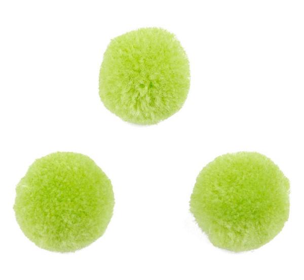 Puschel, rund, hellgrün, ca. 20mm