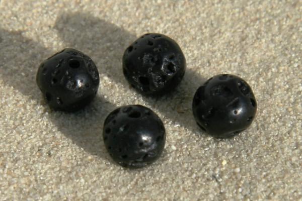 Lava Kugel, schwarz, 6mm