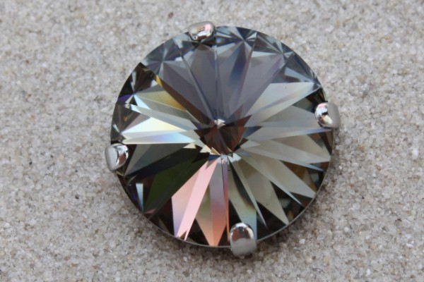 SWAROVSKI® ELEMENTS 1122 - Rivoli im Kessel, Black Diamond, 14mm