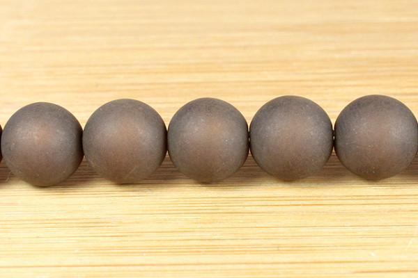 Polaris Kugel, matt, dunkelbraun, 10mm