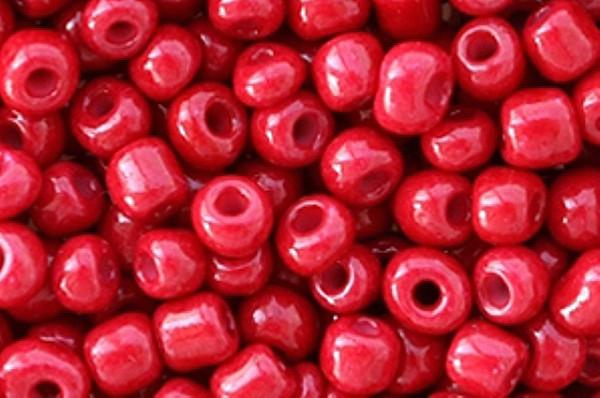 Ponybeads, rund, wine red opaque, 15gr, 6/0, 4mm