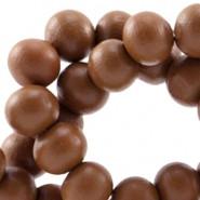 Holzperlen, rund, dark cognac brown, 8mm