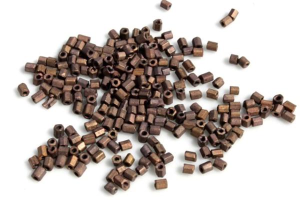 Rocailles, 2-cut, matt coffee, 2.5mm