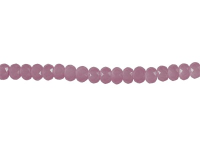 Glasperlen, facettiert, Rondelle, amethyst, 2x3mm, ca. 200 Stück per Strang