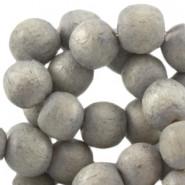 Holzperlen, rund, monument grey, 8mm