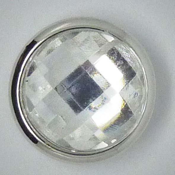 Druckknopf, großer Stein, weiß, 20mm