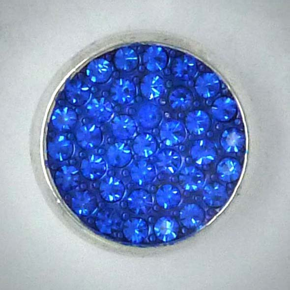Click-Button, Strass, blau, 20mm