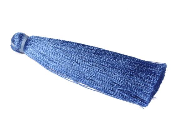 Quaste, Seide, XL, Blau, 7cm