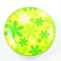 Druckknopf, Blumen, grün, 20mm