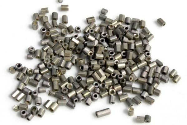 Rocailles, 2-cut, matt stahlgrau, 2.5mm
