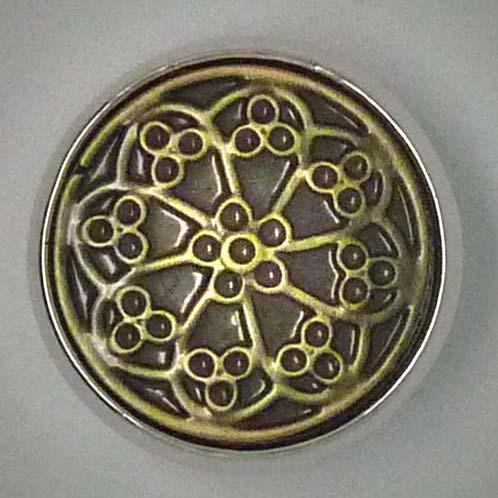 Click-Button, Ornamente, Bimetall, ca. 20mm