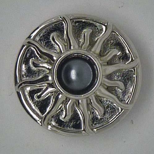 Druckknopf, Sonne, Perle mittig, ca. 20mm