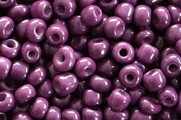 Rocailles, rund, aubergine purple, 15gr, 6/0, 4mm